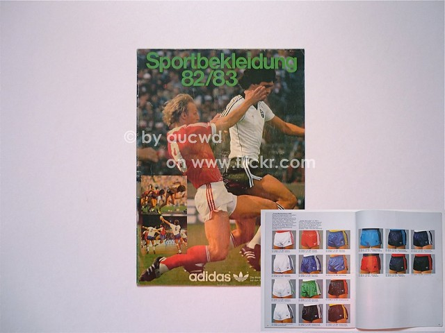 32 pages and pictures of vintage adidas soccer sport shoes and clothing
