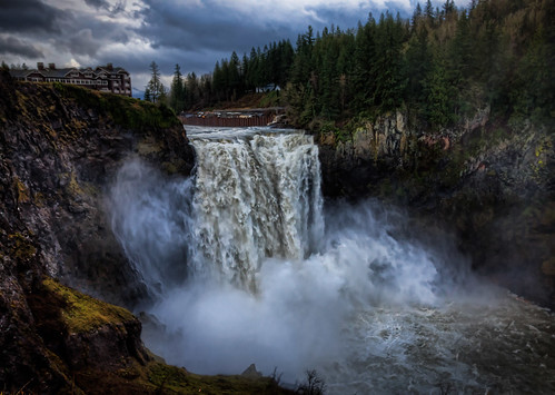 Snoqualmie Falls After Heavy Rain HDR