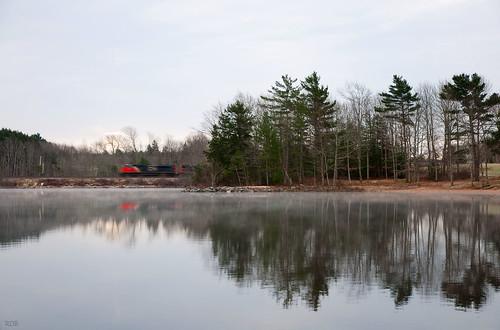 reflection train reflections nikon ns halifax d90 reflectiona oakfieldpark nikon1685mmvr