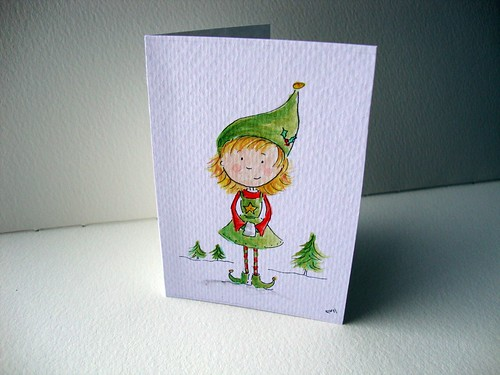 Snowfairy creative christmas cards 2010 for Painted christmas cards