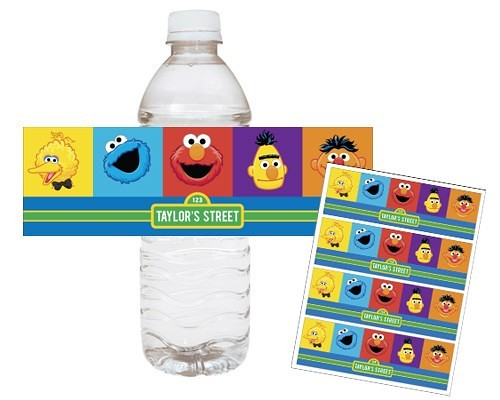 Sesame street elmo cookie monster printable water bottle wraps sesame street elmo cookie monster printable water bottle wraps birthday party favor pronofoot35fo Choice Image