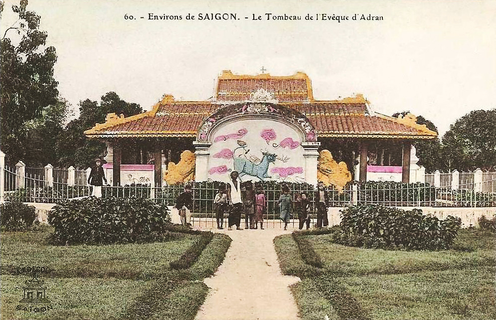 INDOCHINE. Environs de SAIGON - Le Tombeau de l'Evêque d'Adran
