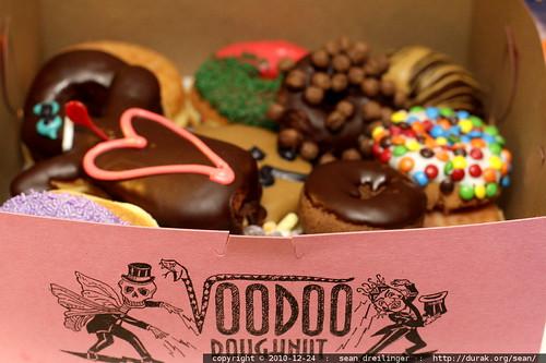 baker's dozen voodoo doughnuts   logo in focus