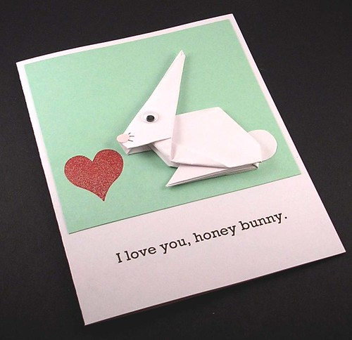 Paper Love 4 Photos | Origami Bunny card | 152
