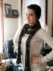 Chevron scarf modeled