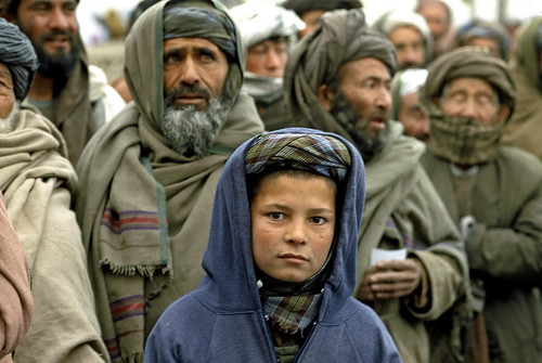 Afghan Boy in Camp for Displaced
