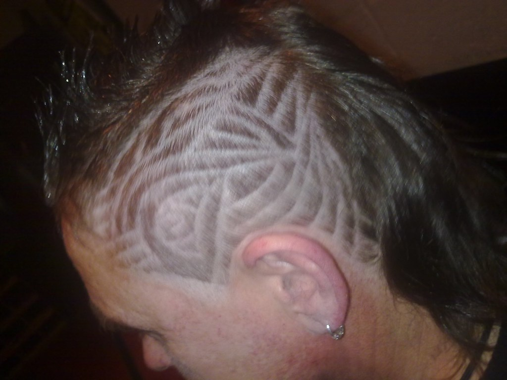 the gallery for gt barber tribal hair designs