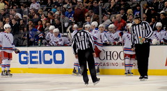 New York Rangers bench