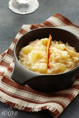 Risotto with pear, Parmigiano and Champagne
