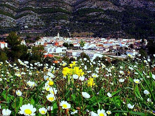 El poble de Benigembla en la Vall de Pop
