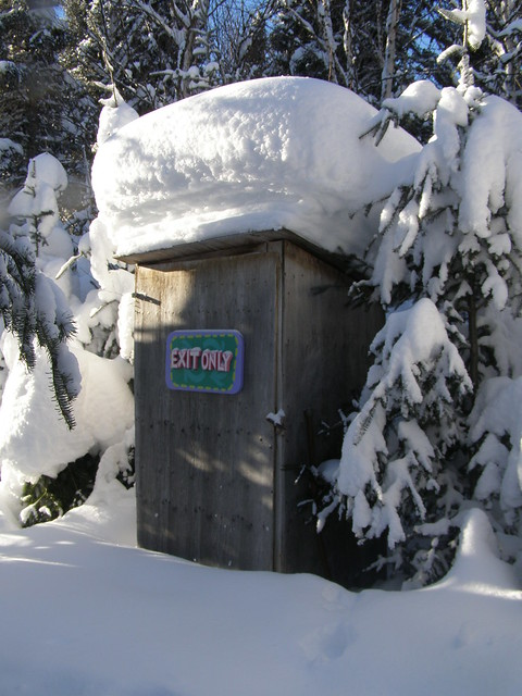 snoed outhouse