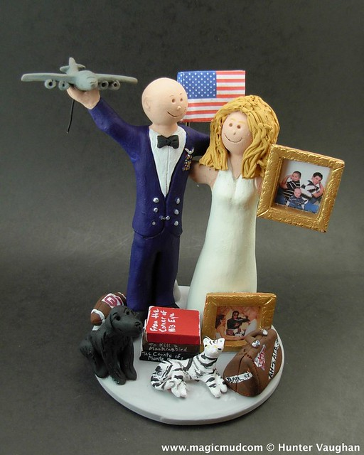 air force wedding cake toppers