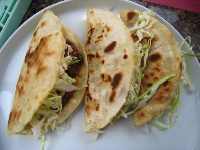 crisp black bean tacos with feta and slaw | Flickr - Photo Sharing!