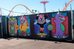Coney Island - Coney Art Walls: Coney Island Grinnies by Ron English