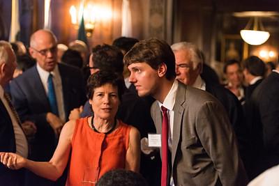 ISH Board Member Annette Aburdene, ISH Resident Scholar Philipp Bosch