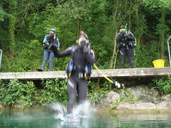Kev entering the water Image