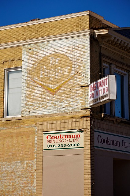 Dr Pepper Ghost Sign Downtown St Joe Missouri