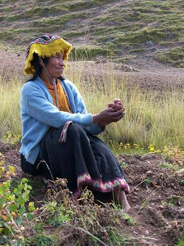 Peru: Quechua farmer in the Potato Park