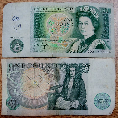 A Bank of England Old One Pound Banknote