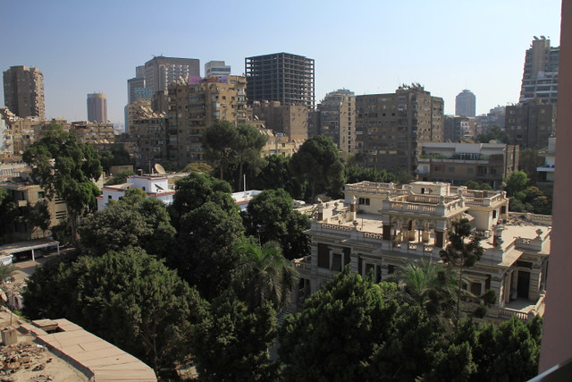 View from our hotel room, Cairo, Egypt
