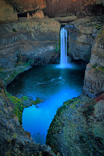 Palouse Waterfall State Park Twilight, Washington State