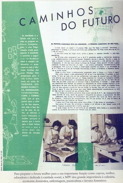 Menina e Moça, Nº 182, Maio 1963, Caminhos do Futuro
