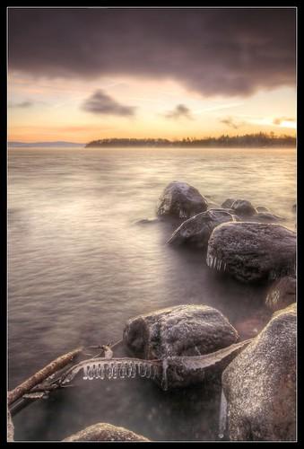 snow ice sunrise flickr vermont outdoor vt lakechamplain northhero borderfx hdrphotomatix116
