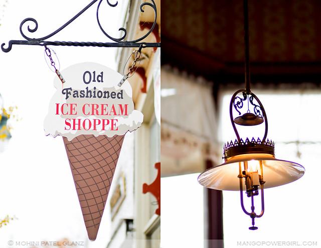 old fashioned ice cream shoppe