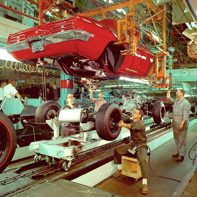 1969 Pontiac Firebird Assembly Line Flickr Photo Sharing