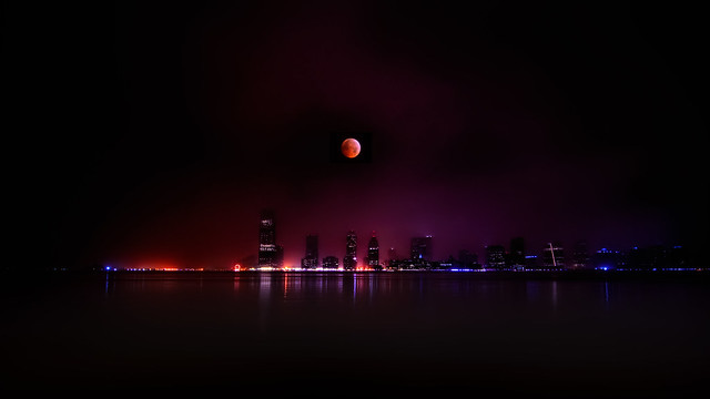 The 2010 Winter Solstice Lunar Eclipse over Jersey City, NJ