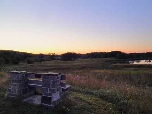 park county nature minnesota sunrise landscape state mn sibley kandiyohi