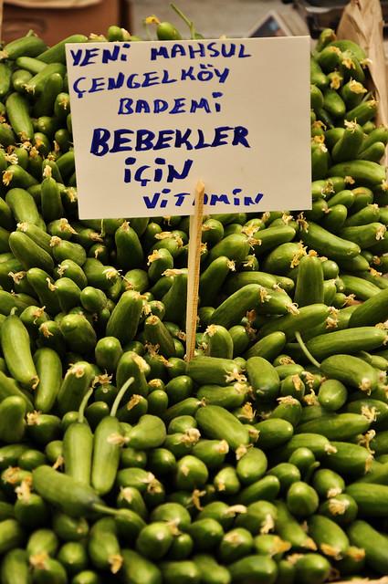 local bazaar istanbul cucumbers