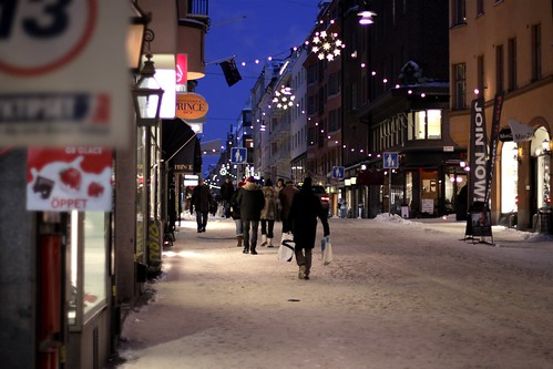 Xmas street, Stockholm