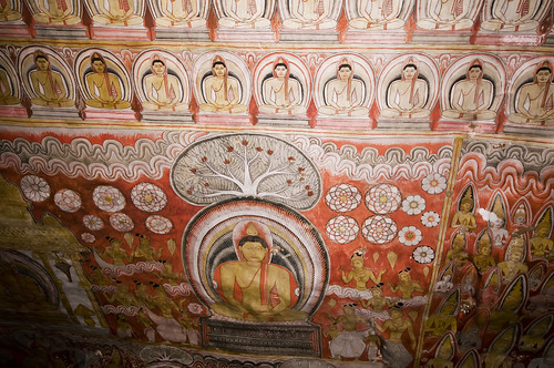 Ceiling Paintings, Dambulla Caves, Sri Lanka