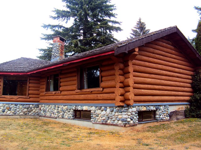 canadian log cabin side view flickr photo sharing