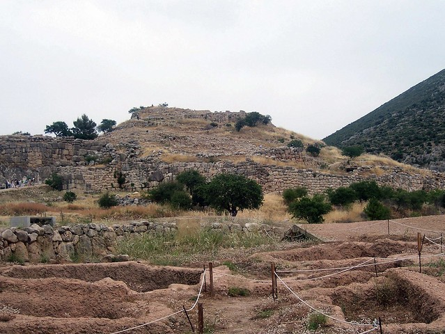 View of the Citadel of Mycenae