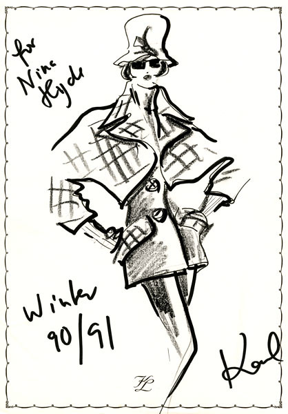 Original Sketch by Karl Lagerfeld