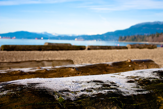 Vancouver - English Bay Beach Winter