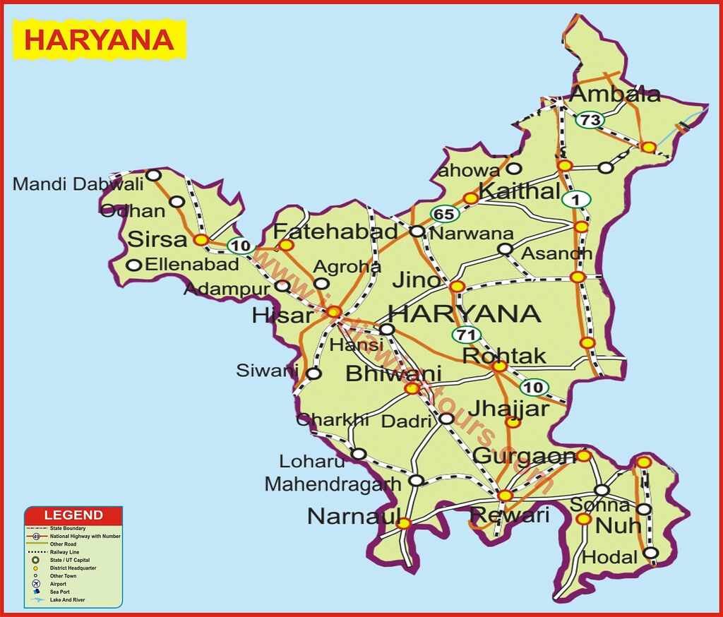 Haryana India Map.Haryana Map Of India Tourist Map Of India Map Of Arunachal Flickr