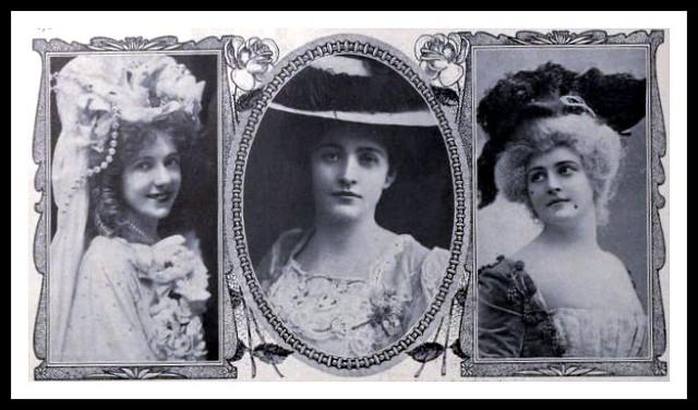 1907 Theatre - 3 Actresses: Marie Louise Griffen, Janet Burton & Helen Robertson