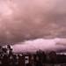Rain, closed sky