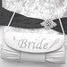 bride purse, black and white