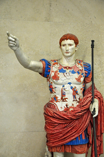 Painted Roman statue