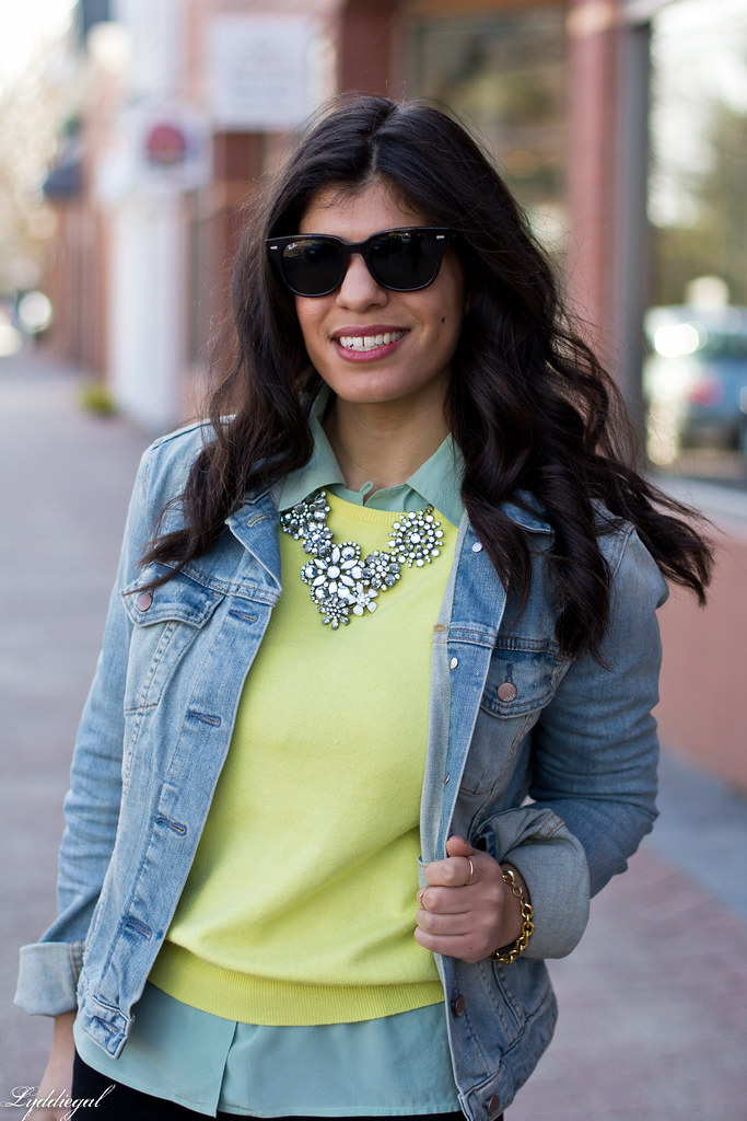 yellow sweater, mint blouse, denim jacket-5.jpg