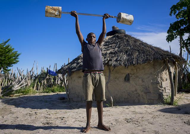 Ondangwa Namibia  city photos : ... Exercising With Barbells, Ondangwa, Namibia | Flickr Photo Sharing
