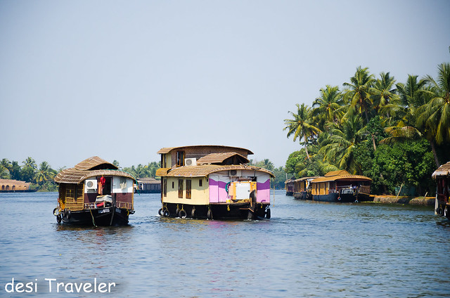 houseboats in backwaters