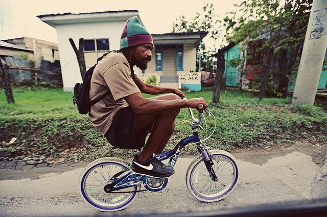 Jamaica rastaman cycling -)))