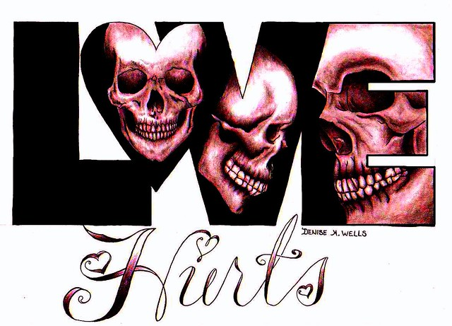 Love Hurts Tattoo Design by