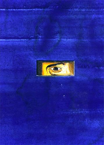 blu con finestra e uomo che osserva 1998 copia 2