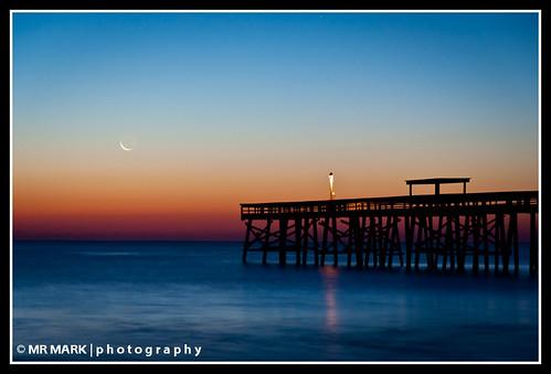 longexposure moon sunrise pier florida wells moonrise ameliaisland